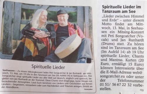 Angekündigt im Kreisboten Garmisch und im Murnauer Tagblatt.