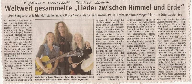 Achimer Kreisblatt, 26. Mai 2014
